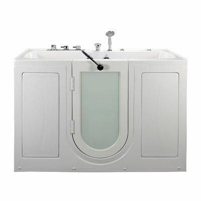 "Tub4Two Two Seat Outward Swing Door Hydro Massage 60"" x 31.75"" Walk in Bathtub"
