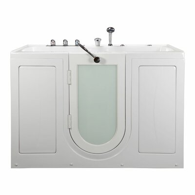 """Tub4Two Two Seat Outward Swing Door with Huntington Brass Faucet Hydro Massage 60"""" x 31.75"""" Walk in Bathtub"""