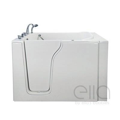 "Bariatric 33 54.25"" x 40"" Whirlpool and Air Massage Walk In Bathtub Drain Location: Left Hand"