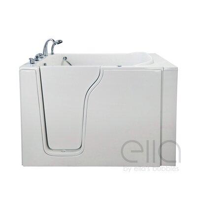 "Bariatric 33 54.25"" x 40"" Air Massage Walk In Bathtub Drain Location: Left Hand"