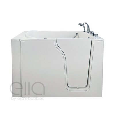 "Bariatric 33 54.25"" x 40"" Whirlpool and Air Massage Walk In Bathtub Drain Location: Right Hand"