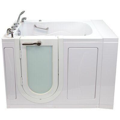 """Monaco Hydro Massage and Microbubble 52"""" x 32"""" Walk in Whirlpool Bathtub with Thermo Faucet Set"""