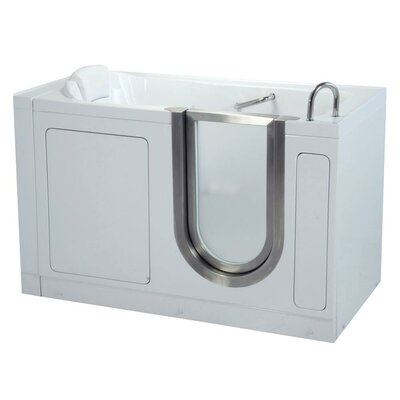 "55"" x 30"" Deluxe Soaking Walk In Tub Door and Drain Location: Left"