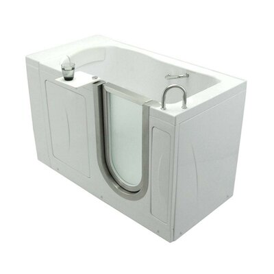 "Elite 52"" x 30"" Soaking Walk In Tub Door and Drain Location: Right"