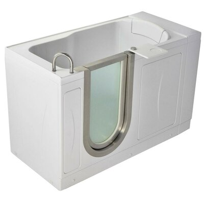 "52"" x 28"" Petite Soaking Walk In Tub Door and Drain Location: Left"