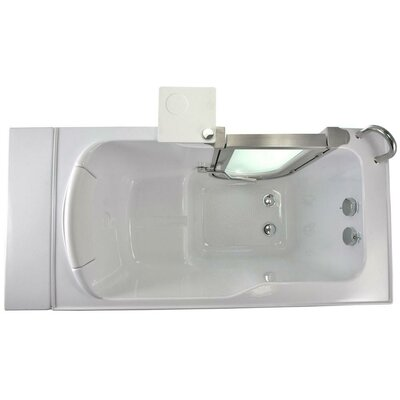 "52"" x 28"" Petite Soaking Walk In Tub Door and Drain Location: Right"