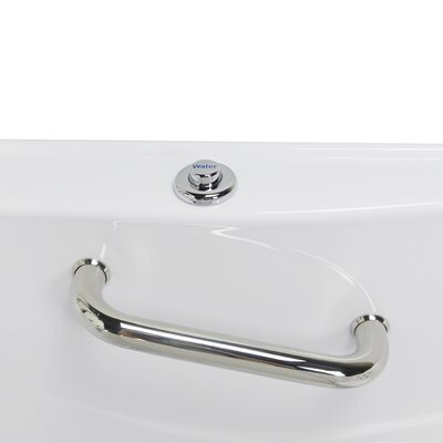 """Monaco Hydro Massage Microbubble and Heated Seat 52"""" x 32"""" Walk in Whirlpool Bathtub with Thermo Faucet Set"""