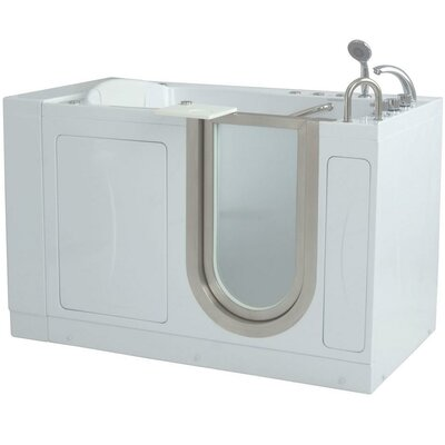 "Royal 52"" x 32"" Massage Whirlpool Walk In Tub Door and Drain Location: Right"