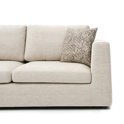 Emily Sectional Upholstery: Lyndon Ecru, Orientation: Left Hand Facing