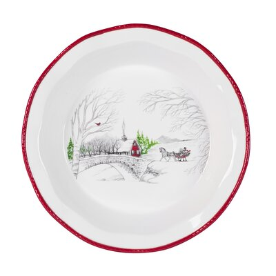 Vintage Holiday Pie Plate