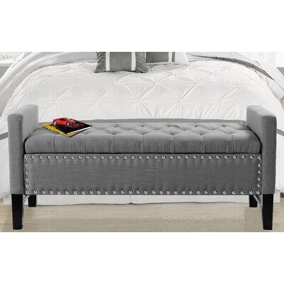 Auberge Storage Bench Upholstery: Dark Gray