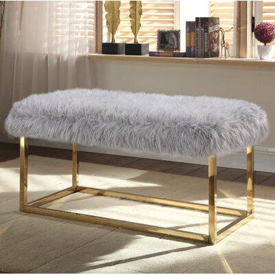 Bostrom Upholstered Bench Upholstery: Gray