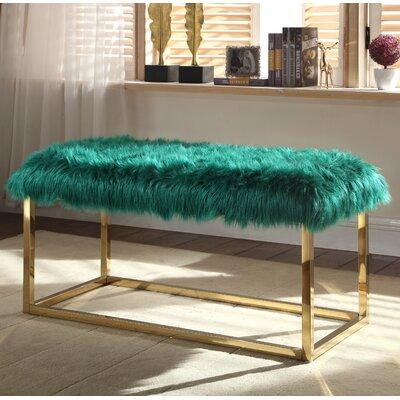 Bostrom Upholstered Bench Upholstery: Green