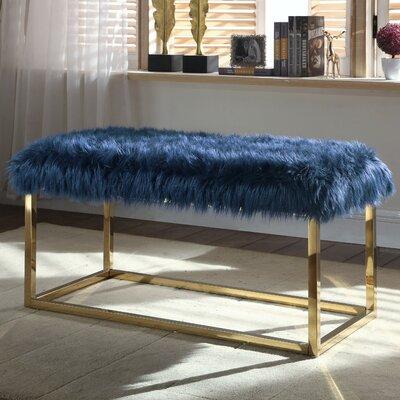 Bostrom Upholstered Bench Upholstery: Navy