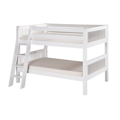 Goad Twin over Twin Bunk Bed Bed Frame Color: White