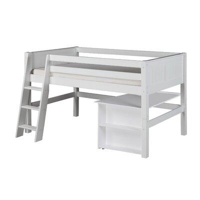 Oakwood Twin Low Loft Bed Color: White