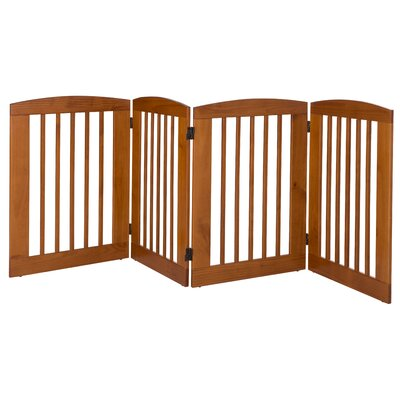 "Daniella 4 Panel Expansion Dog Gate Finish: Chestnut, Size: Large (36"" H x 96"" W x 0.75"" L)"