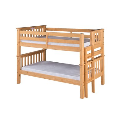 Santa Fe Mission Twin over Twin Bunk Bed Color: Natural