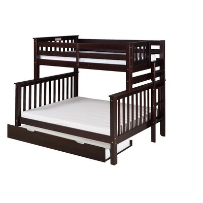 Santa Fe Mission Tall Bunk Bed with Trundle Color: Cappuccino, Size: Full Over Full