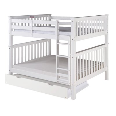 Santa Fe Mission Bunk Bed with Trundle Color: White, Size: Twin Over Twin