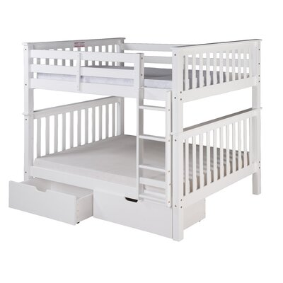 Santa Fe Mission Bunk Bed with Storage Color: White, Size: Twin Over Twin