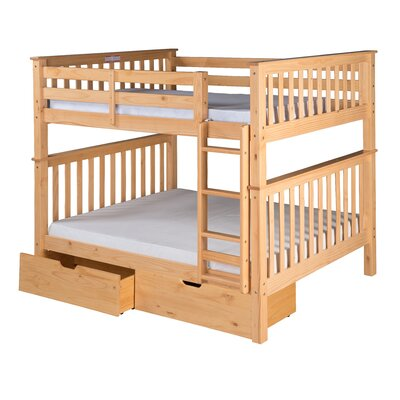 Santa Fe Mission Bunk Bed with Storage Color: Natural, Size: Twin Over Twin