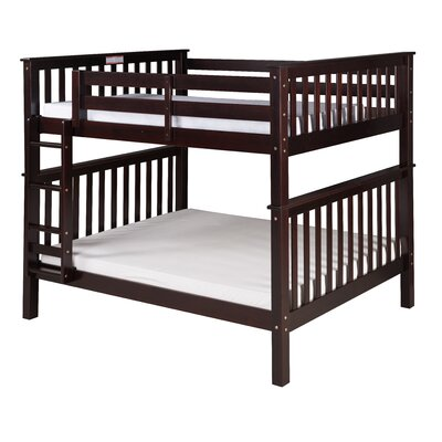 Santa Fe Mission Bunk Bed Color: Cappuccino, Size: Twin Over Twin