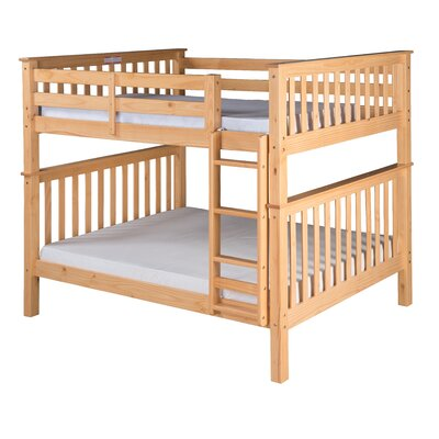 Santa Fe Mission Bunk Bed Color: Natural, Size: Twin Over Twin