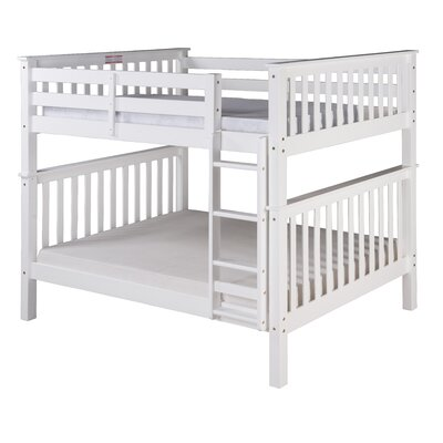 Santa Fe Mission Bunk Bed Color: White, Size: Twin Over Twin
