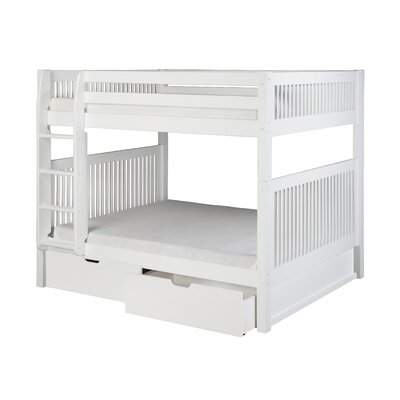 Glickman Full over Full Bunk Bed with Drawers Bed Frame Color: White