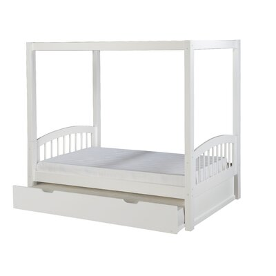 Midtown Twin Canopy Bed with Trundle