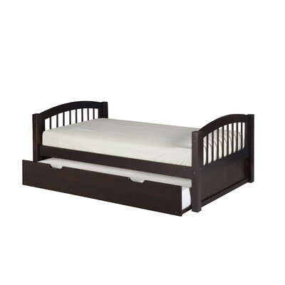 Garling Twin Platform Bed with Trundle Bed Frame Color: Cappuccino