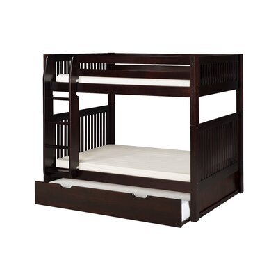 Ortley Twin over Twin Bunk Bed with Trundle Bed Frame Color: Cappuccino
