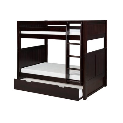 Northwest Hills Twin over Twin Bunk Bed with Trundle Bed Frame Color: Cappuccino