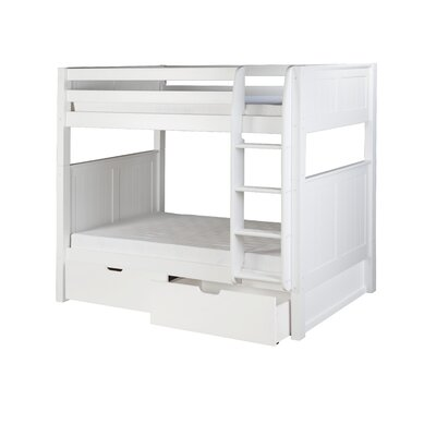 Rigg Twin over Twin Bunk Bed with Drawers Bed Frame Color: White