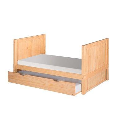 Gess Twin Platform Bed with Trundle Bed Frame Color: Natural