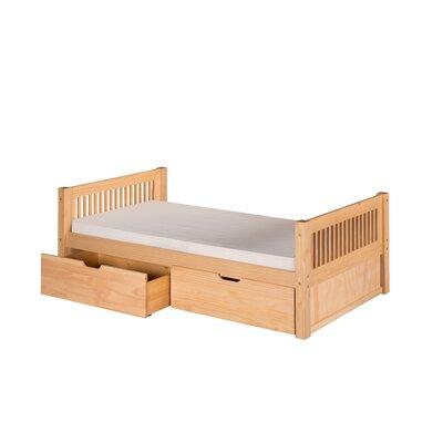 Garrett Twin Platform Bed with Drawers Bed Frame Color: Natural