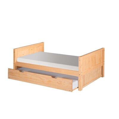 Geter Twin Platform Bed with Trundle Bed Frame Color: Natural