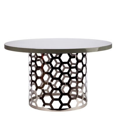 """Laguna Dining Table Color: Silver/Gray, Size: 30"""" H x 54"""" W x 54"""" D"""