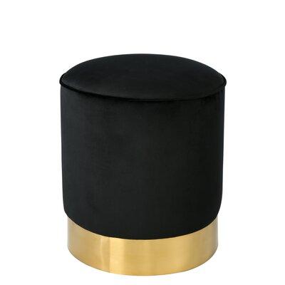 Junia Vanity Stool Color: Black/Gold