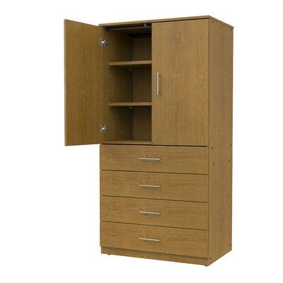 Mobile CaseGoods 2 Door Storage Cabinet Color: Solar Oak/Solar Oak, Door Option: Non Locking