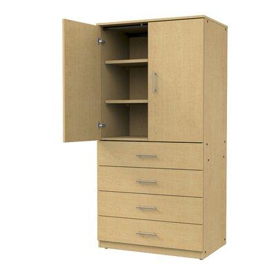 Mobile CaseGoods 2 Door Storage Cabinet Color: Fusion Maple/Fusion Maple, Door Option: Non Locking