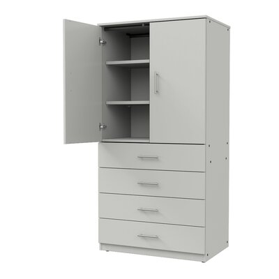 Mobile CaseGoods Tall Storage Cabinet Color: London Gray/London Gray, Door Option: Locking