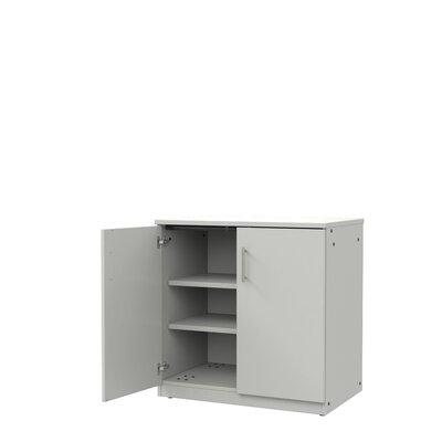 Mobile CaseGoods 2 Door Storage Cabinet Door Option: Locking, Color: London Gray/London Gray