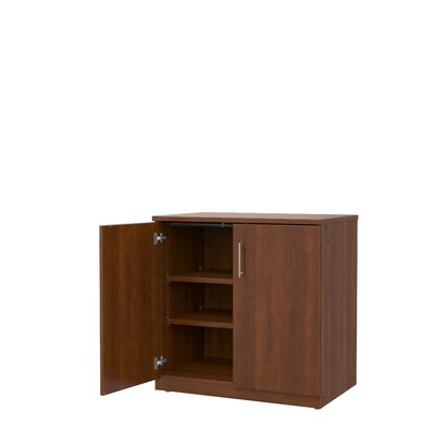 Mobile CaseGoods 2 Door Storage Cabinet Door Option: Locking, Color: Executive Cherry/Executive Cherry
