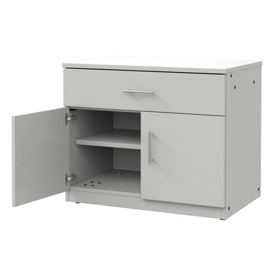 Mobile CaseGoods 2 Door Storage Cabinet Door Option: Non Locking, Color: London Gray/London Gray