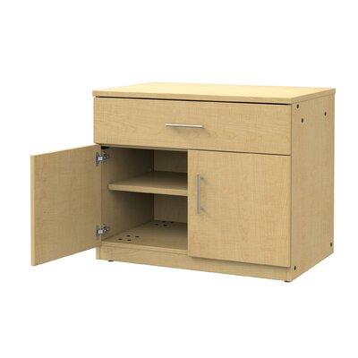 Mobile CaseGoods 2 Door Storage Cabinet Color: Fusion Maple/Fusion Maple, Door Option: Locking