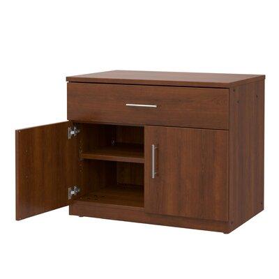 Mobile CaseGoods 2 Door Storage Cabinet Color: Executive Cherry/Executive Cherry, Door Option: Locking