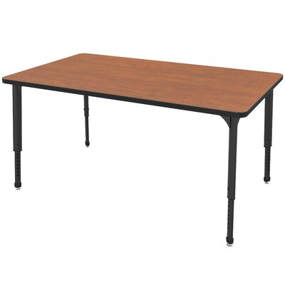 """Apex Series Rectangular Activity Table Side Color: Gray, Size: 30"""" H x 48"""" W x 30"""" D, Tabletop Color: Sand Shoal"""