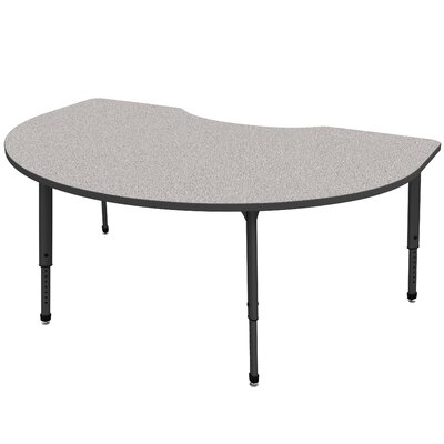 "Apex Series 72"" x 48"" Kidney Activity Table Tabletop Color: Cherry, Side Color: Black"